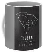 Clemson Tigers / Ncaa College Football Art / South Carolina Coffee Mug by Damon Gray