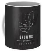 Cleveland Browns Art - Nfl Football Wall Print Coffee Mug by Damon Gray