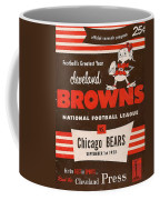 Cleveland Browns Vintage Program 5 Coffee Mug