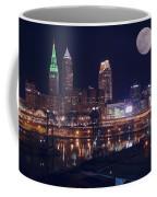 Cleveland With Full Moon Coffee Mug