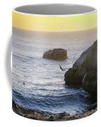 Cliff Jumping To Surf Coffee Mug