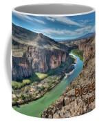 Cliff View Of Big Bend Texas National Park And Rio Grande Text Big Bend Texas Coffee Mug
