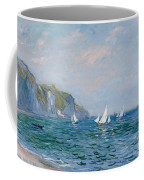Cliffs And Sailboats At Pourville  Coffee Mug