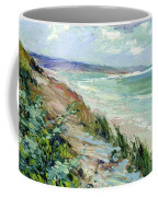 Cliffs By The Sea At Trouville  Coffee Mug
