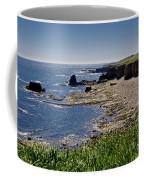 Cliffs Near Souter Lighthouse. Coffee Mug