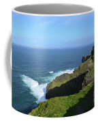 Cliff's Of Moher With White Water At The Base In Ireland Coffee Mug