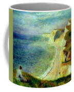 Cliffs On The Coast Near Pourville 1879 Coffee Mug