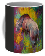 Climbing The Bank - Grizzly Bear Coffee Mug