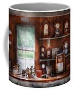Clocksmith - In The Clock Repair Shop Coffee Mug by Mike Savad