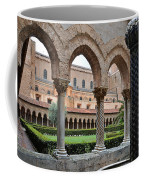 Cloister Of The Abbey Of Monreale. Coffee Mug