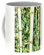 Close Up Big Fresh Bamboo Coffee Mug