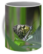 Close Up Look At A Paper Kite Butterfly On Foliage Coffee Mug