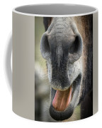 Close-up Of A Donkey's Mouth Coffee Mug