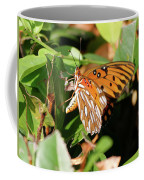 Close-up Of A Vibrant Gulf Fritilary Butterfly  Coffee Mug