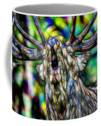 Close Up Of Huge Male Elk Bugling Coffee Mug