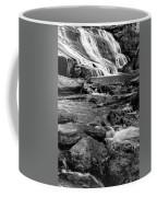 Close Up Of Reedy Falls In South Carolina B W Coffee Mug