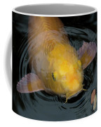 Close Up Of Single Large Yellow Koi Fish With Whiskers Coffee Mug
