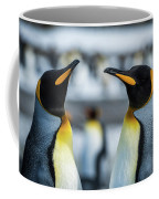 Close-up Of Two King Penguins In Colony Coffee Mug