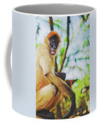 Close-up Portrait Of A Nicaraguan Spider Monkey Sitting And Looking At The Camera Coffee Mug