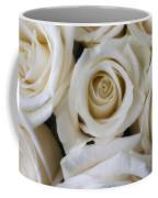Close Up White Roses Coffee Mug