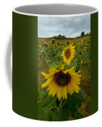 Close View Of A Sunflower At The Edge Coffee Mug