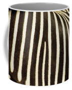 Close View Of A Zebras Stripes Coffee Mug by Stacy Gold
