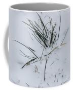 Close View Of Blades Of Grass Poking Coffee Mug