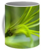 Close View Of Green Flower Coffee Mug