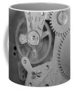 Closeup Macro Of Clock Mechanism Coffee Mug