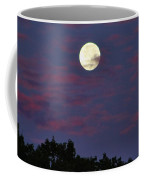 Closeup Moonset In Colorful Clouds Coffee Mug