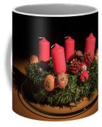 Closeup Of An Advent Wreath, Unlit Candles Coffee Mug