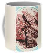 Closeup Of Chocolate Pieces And Shavings On Plate Coffee Mug