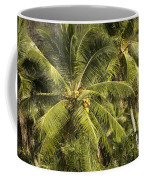 Closeup Of Coconut Palm Trees Coffee Mug