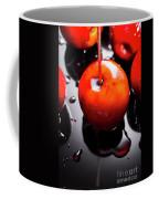 Closeup Of Red Candy Apple On Stick Coffee Mug