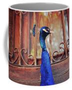 Closeup Portrait Of A Peacock Peafowl Coffee Mug
