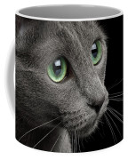 Closeup Russian Blue Coffee Mug by Sergey Taran