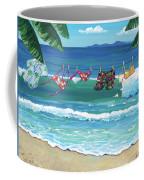 Clothesline At The Beach Coffee Mug
