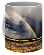 Cloud Burst And Rainbow Early Spring Storm Coffee Mug
