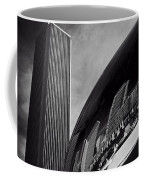 Cloud Gate And Aon Center Black And White Coffee Mug