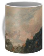 Cloud Study With Trees Coffee Mug