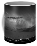 Cloud To Cloud Lightning Boulder County Colorado Bw Coffee Mug