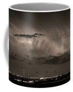 Cloud To Cloud Lightning Boulder County Colorado Bw Sepia Coffee Mug