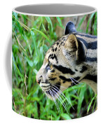 Clouded Leopard In The Grass Coffee Mug