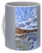 Clouds Above The Lock And Dam Coffee Mug