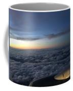 Clouds And Plane Coffee Mug