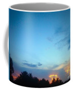 Clouds Arch Over Sunset Coffee Mug