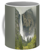 Clouds Hang Over Bridaveil Falls Coffee Mug