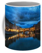 Clouds Over Ponte Vecchio Coffee Mug