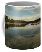 Clouds Reflecting In An Alpine Lake.  Coffee Mug