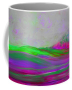 Clouds Rolling In Abstract Landscape Purple And Hot Pink Coffee Mug